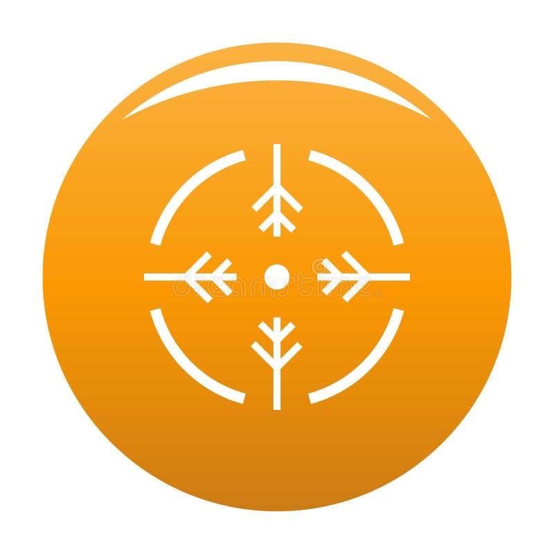 Orange d'icône de cercle de pousse illustration stock