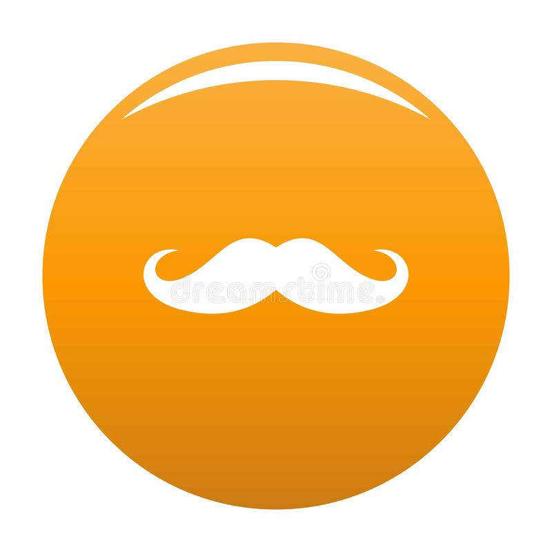 Orange d'icône de moustache de l'Italie illustration stock