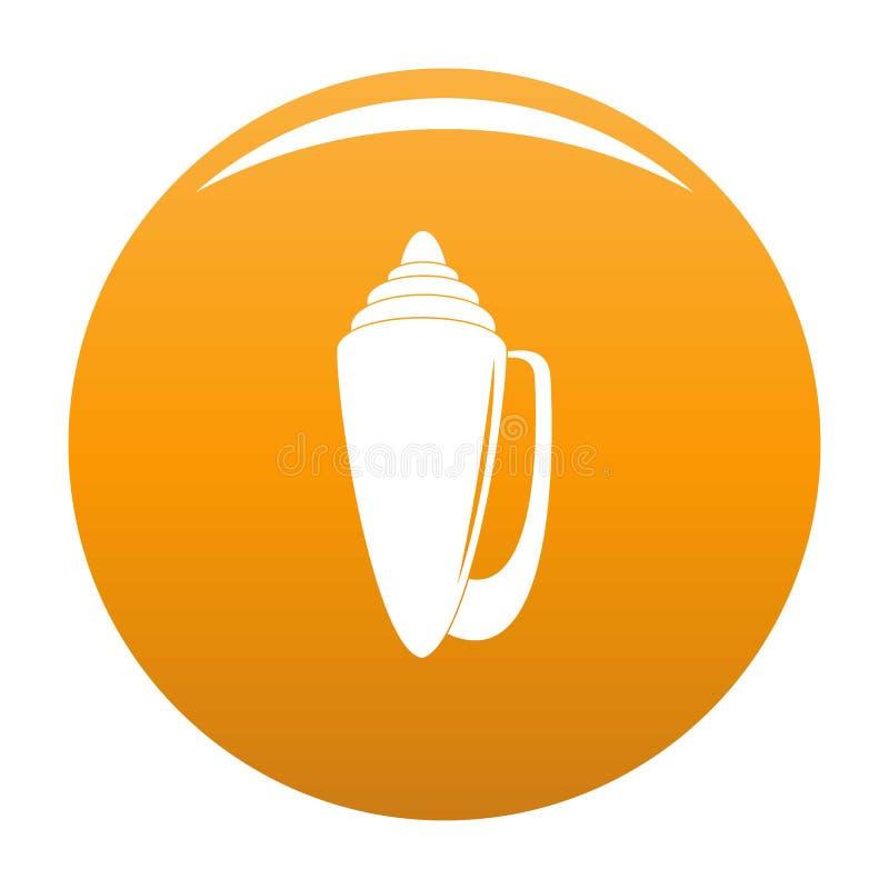 Orange d'icône de Shell illustration de vecteur