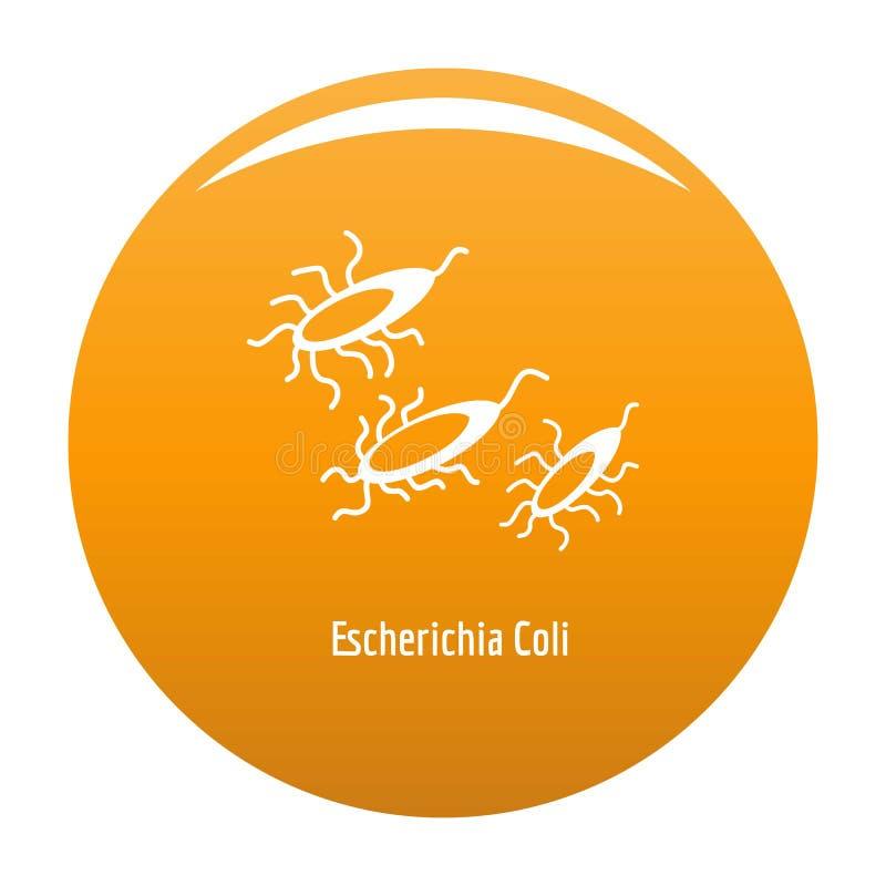 Orange d'icône d'Escherichia coli illustration libre de droits