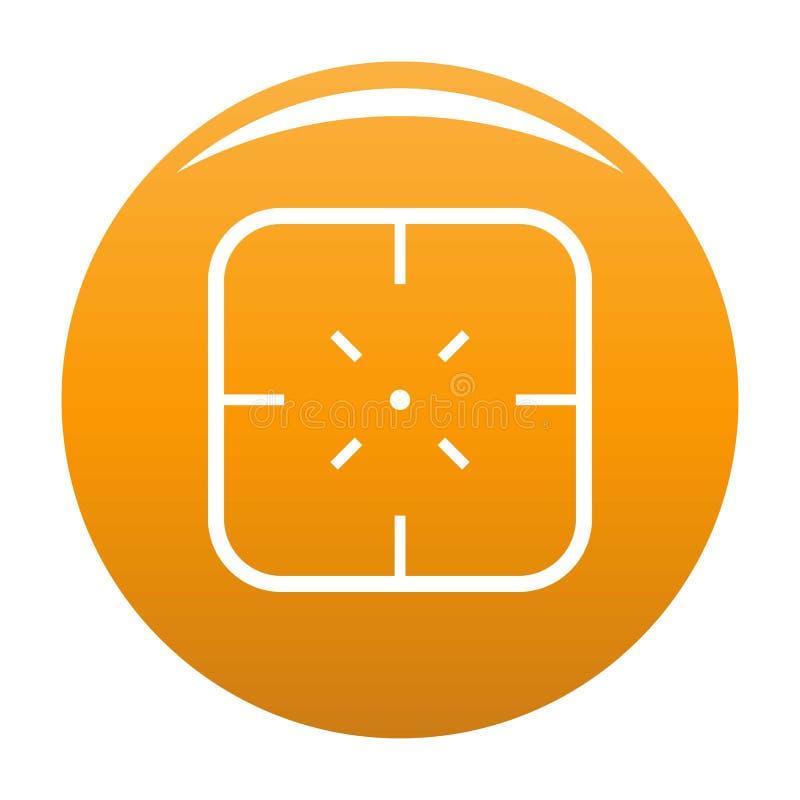Orange d'icône d'objectif militaire illustration de vecteur