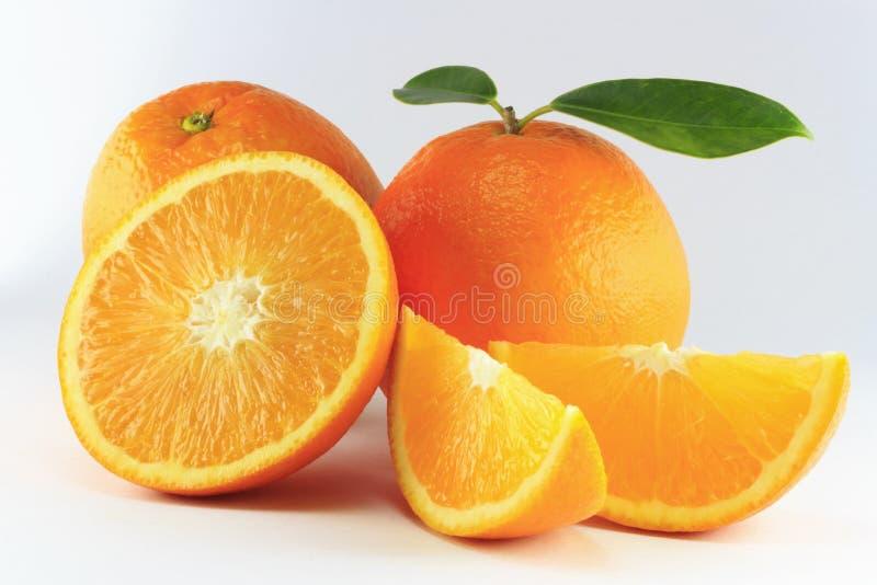 Orange d'isolement photographie stock libre de droits