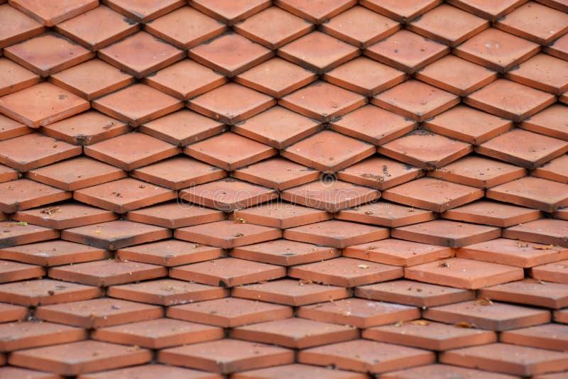 Orange Dachplattebeschaffenheit stockbild