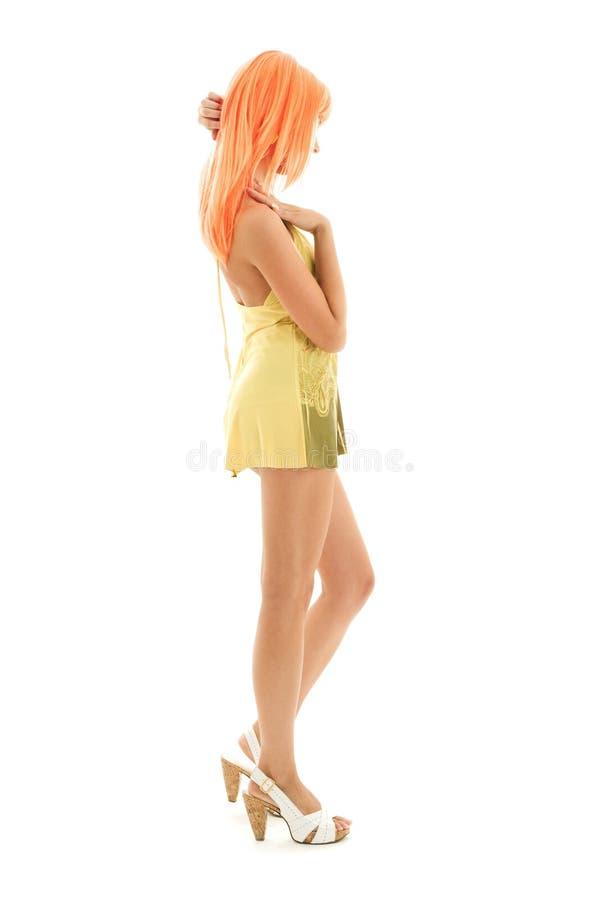 Download Orange De Cheveu De Fille Belle Photo stock - Image du robe, attrayant: 8664058