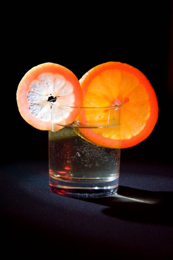 orange de citron 3 en verre photos stock