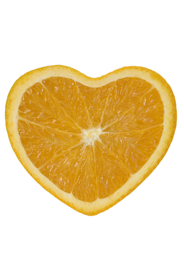 orange de coeur images stock