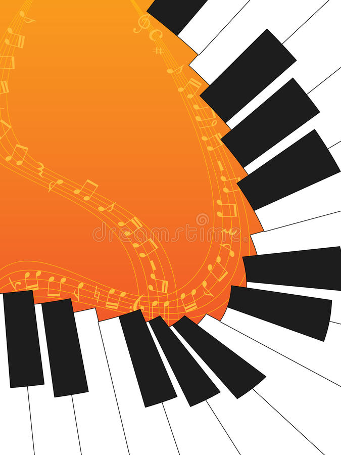 Orange de courbe de piano illustration de vecteur