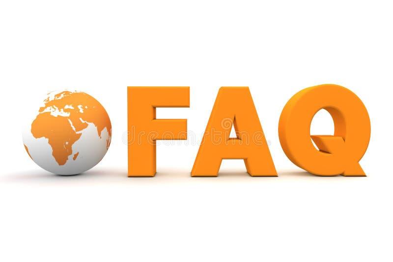 Orange de FAQ du monde illustration libre de droits