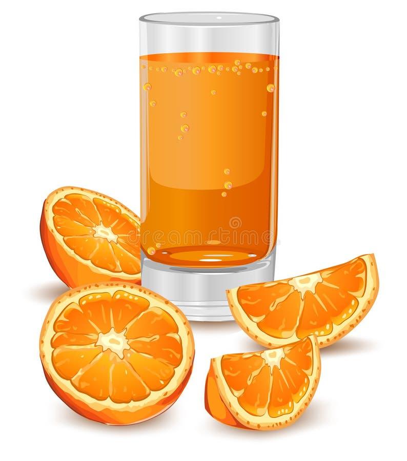 orange de jus illustration de vecteur