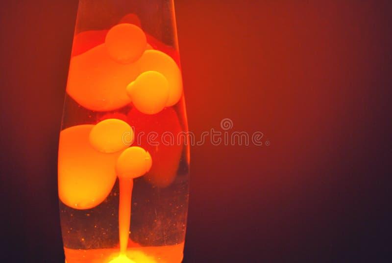 orange de lave de lampe photo stock