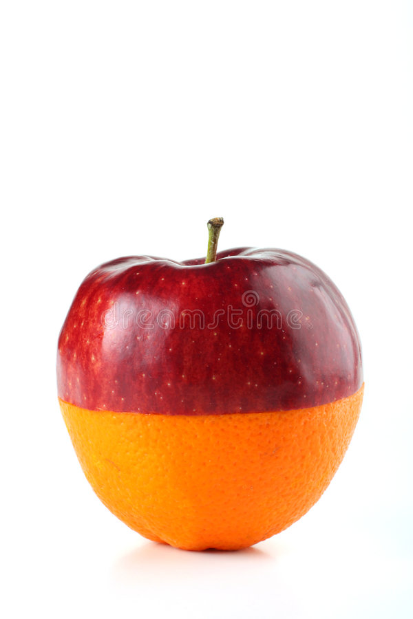 orange de pomme photographie stock