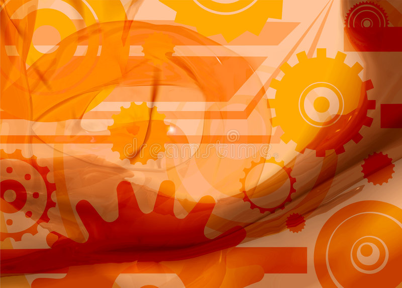 Orange de rouage d'horloge illustration libre de droits
