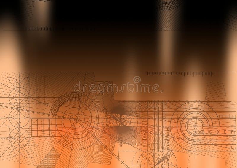Orange de Techbackground illustration stock