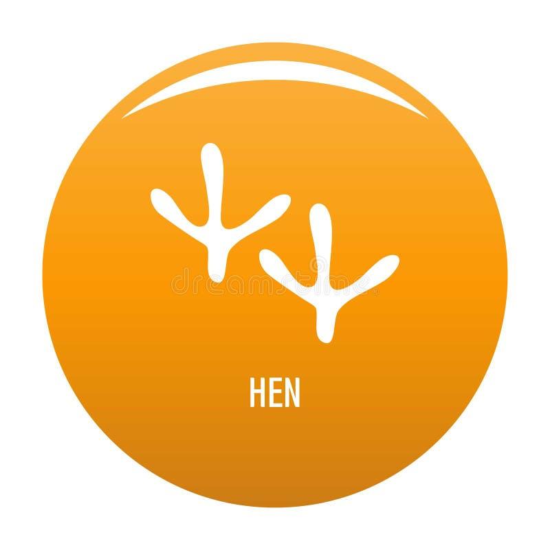 Orange de vecteur d'icône d'étape de poule illustration stock