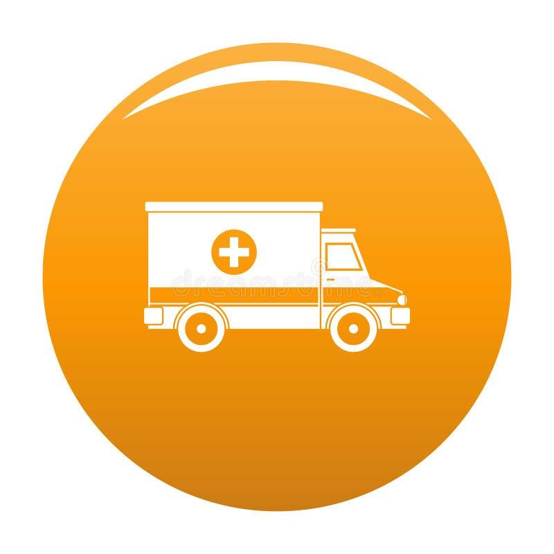 Orange de vecteur d'icône d'ambulance illustration stock