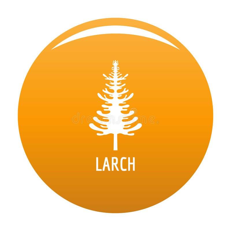 Orange de vecteur d'icône d'arbre de mélèze illustration de vecteur