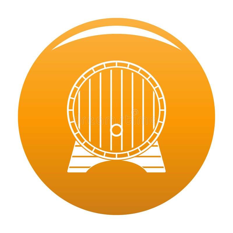 Orange de vecteur d'icône de baril de bière illustration libre de droits