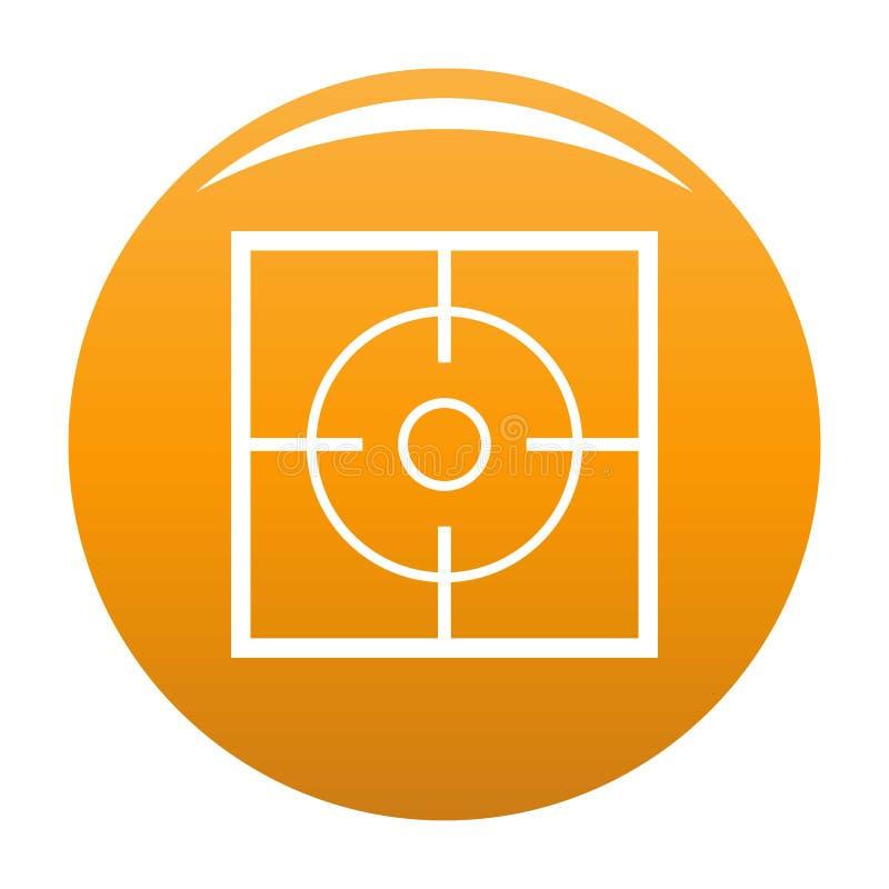 Orange de vecteur d'icône de destination illustration stock