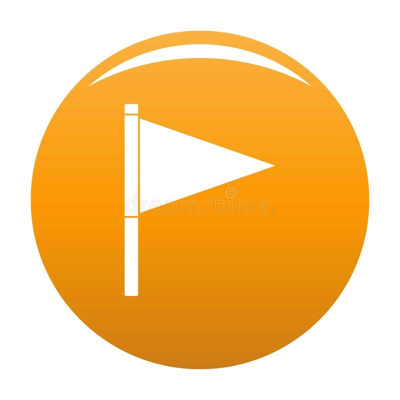 Orange de vecteur d'icône de drapeau de destination illustration de vecteur