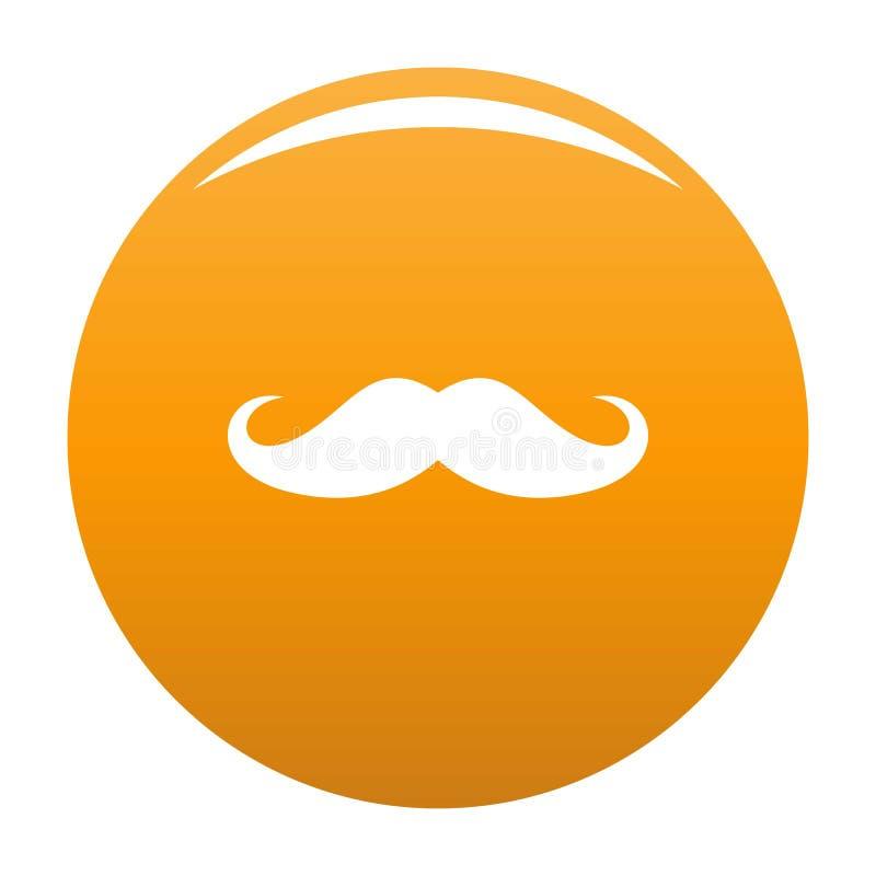 Orange de vecteur d'icône de moustache de l'Italie illustration libre de droits