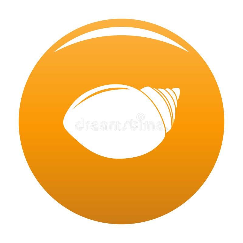 Orange de vecteur d'icône de Shell de mollusques illustration de vecteur