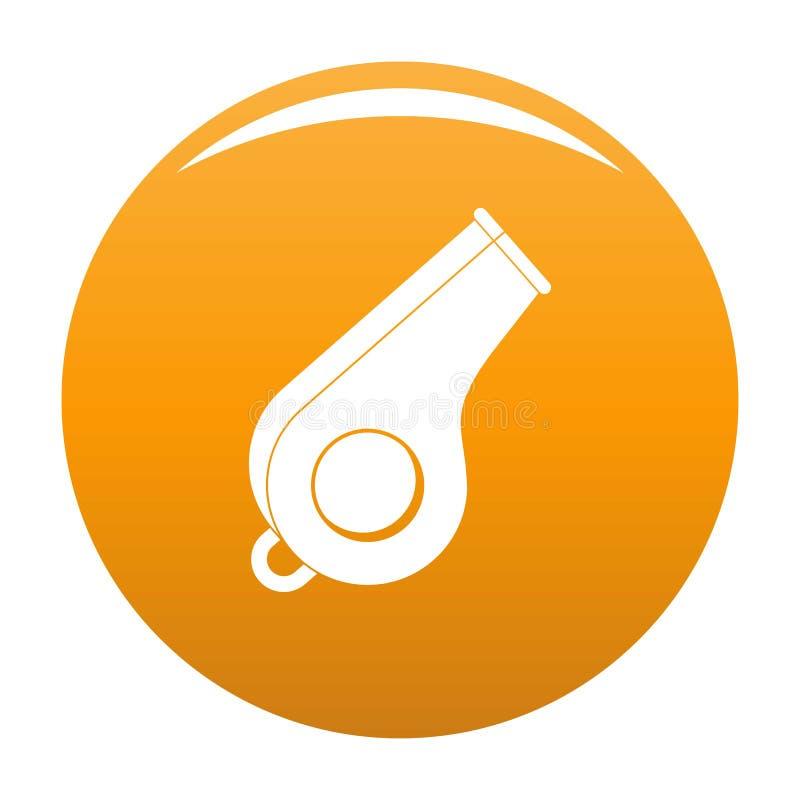 Orange de vecteur d'icône de sifflement illustration stock