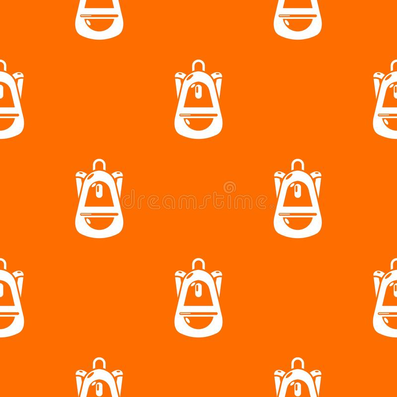 Orange de vecteur de modèle de bagages de sac à dos illustration stock
