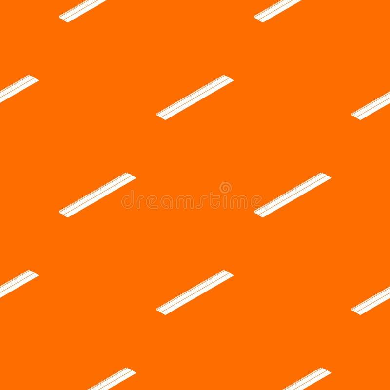 Orange de vecteur de modèle de barre en métal illustration libre de droits
