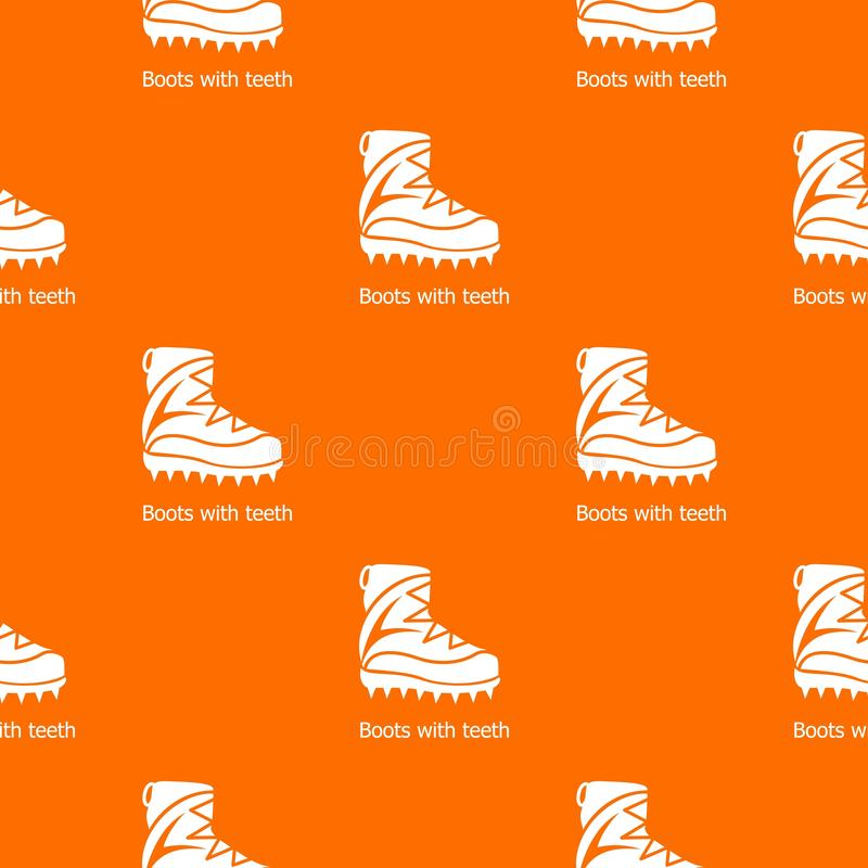 Orange de vecteur de modèle de chaussures d'alpiniste illustration de vecteur