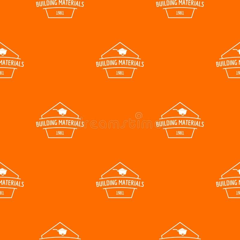 Orange de vecteur de mod?le de mat?riaux de construction illustration stock