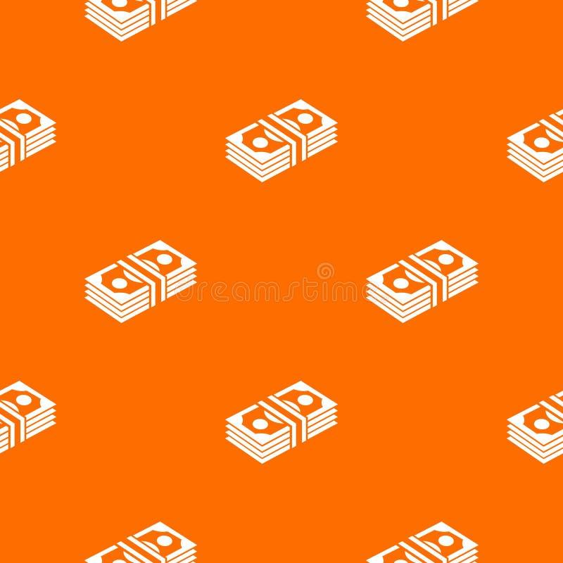 Orange de vecteur de modèle de note de paquet illustration de vecteur