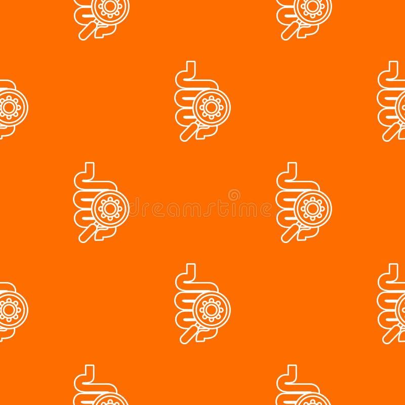 Orange de vecteur de modèle de virus d'intestin illustration libre de droits
