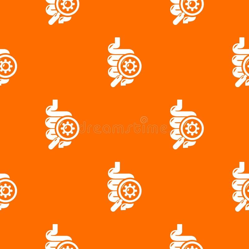 Orange de vecteur de modèle de virus d'intestin illustration stock