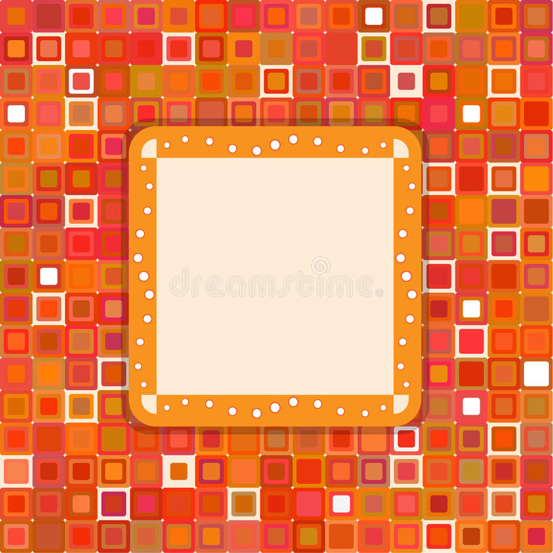 Orange decorative page. This is file of EPS10 format vector illustration