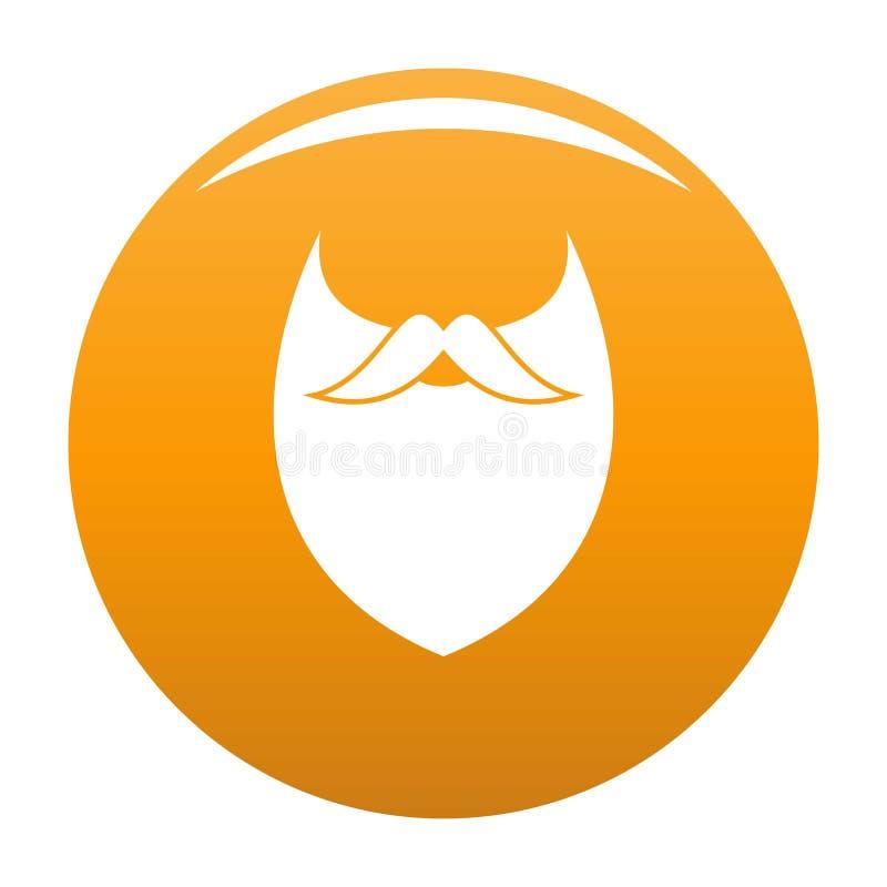 Orange dense d'icône de barbe illustration stock