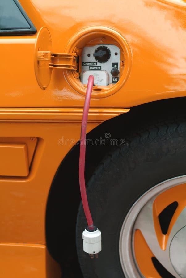 Orange des elektrischen Autos lizenzfreies stockbild