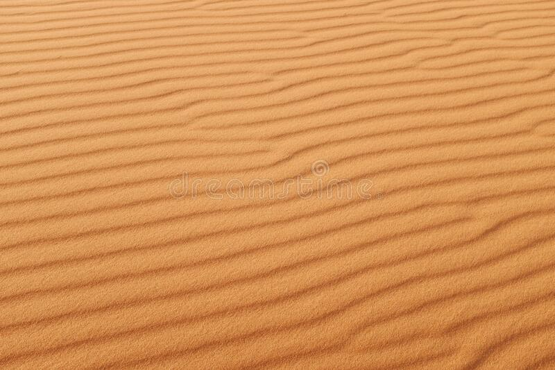 Orange desert sand patterns of the Arabian Desert royalty free stock photo