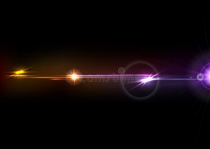 Orange design för vektor för effekt för signalljus för lilaglödlins vektor illustrationer