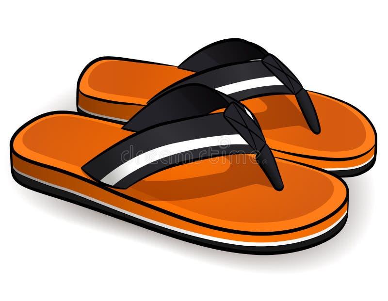 Orange design för vektorflipmisslyckanden stock illustrationer