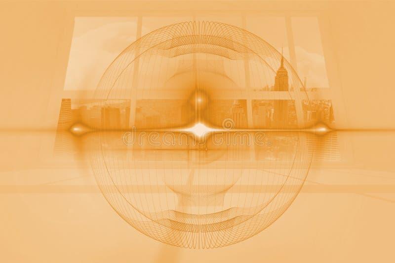 Orange dial overlay. On room stock illustration
