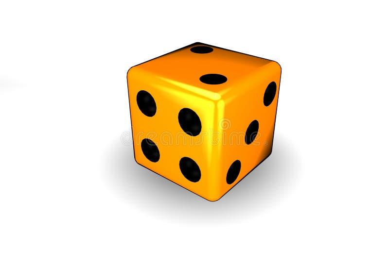 Orange dice vector illustration