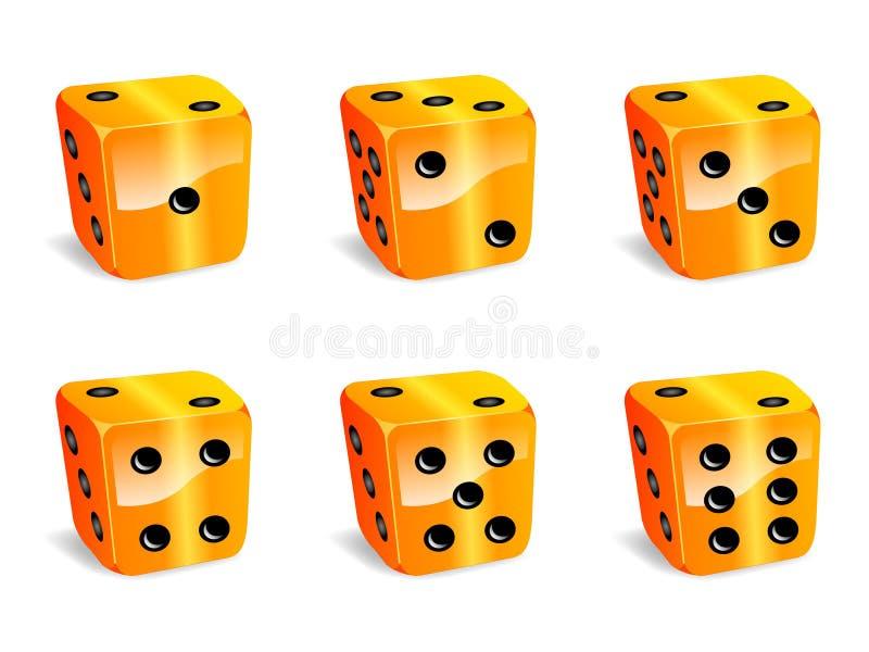 Download Orange dices stock vector. Image of number, play, orange - 22472811