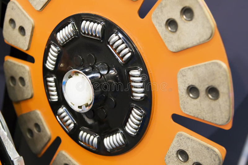 Orange disk of automobile clutch royalty free stock image