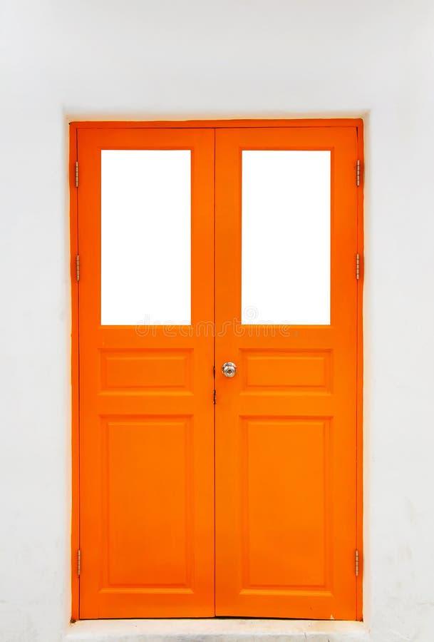 Orange door stock photography