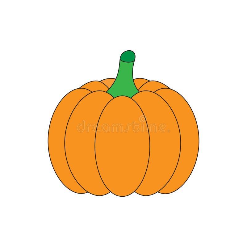 Orange dragen pumpagrönsakhand stock illustrationer