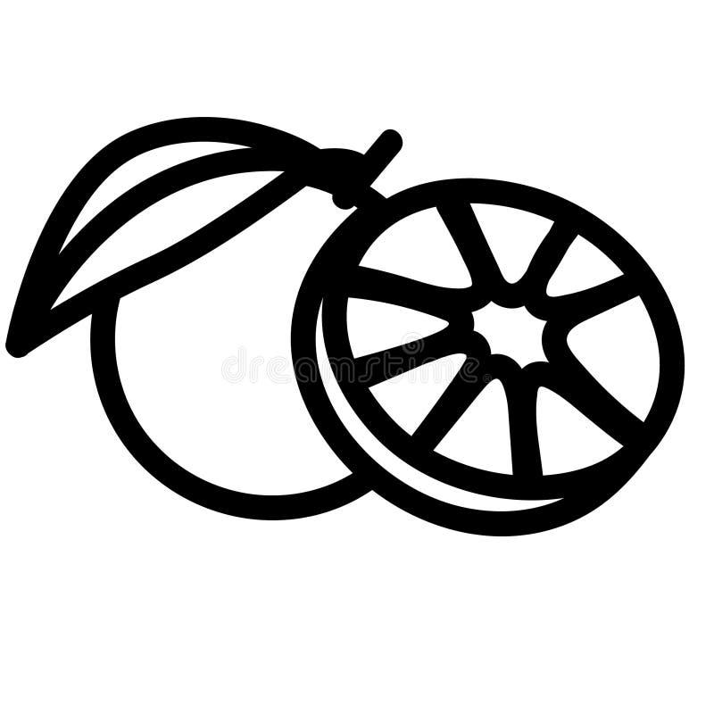 Orange dragen vektoreps-hand, vektor, Eps, logo, symbol, konturillustration vid crafteroks f?r olikt bruk vektor illustrationer