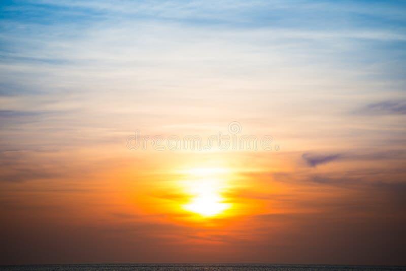 Orange dramatic sunset as background royalty free stock photography