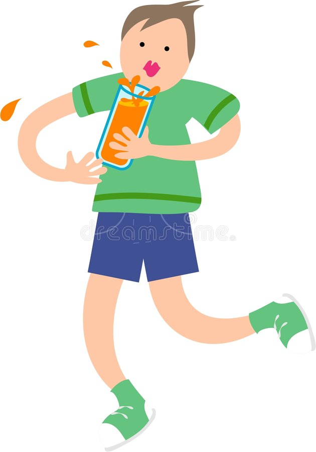 Orange Drink royalty free illustration