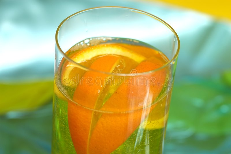 Orange drink royalty free stock image