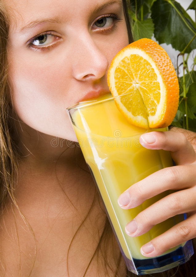 Orange drink royalty free stock photo